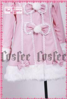 RQBL Lolita cosplay Jacke Mantel mittel lang rosa pink Ohren Visual
