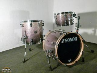 Sonor S classix Jazz Drumse Black Silver Glass Glier Schlagzeug