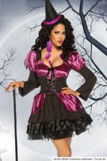 Vampir Hexe Petticoat S   M schwarz rot silber Fasching Kostüm