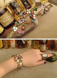 AG4629 New Fashion Jewelry Lady beetles dragonfly flower Bracelet