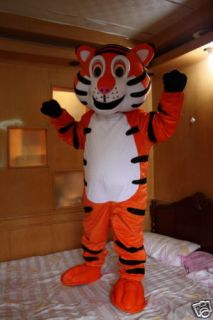 Professional New Happy Tiger Mascot Costume Adult Size Fancy Dress