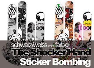 STICKER BOMB   The Shocker Hand Aufkleber Decal Sticker Bombing 10 x