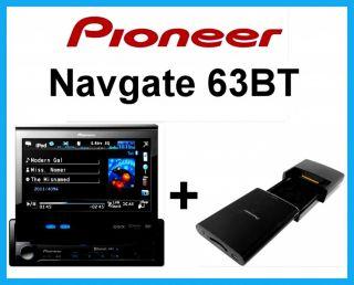 PIONEER Navgate 63BT 1 DIN Navigation USB DVD SD Bluetooth AVH 6300BT