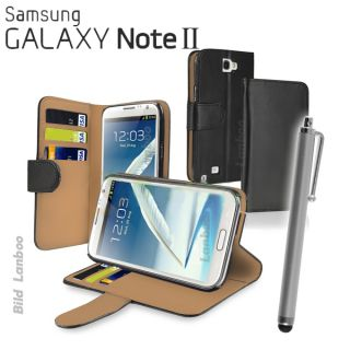 Samsung Galaxy Note 2 II N7100 Leder Tasche Huelle Etui Edel Case