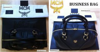 MCM Tasche, Handtasche, Ledertasche, Business Bag Latte Satchel Large