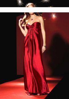 LAURA SCOTT Satin Kleid Abendkleid Rot * Lang Gr. 38, 40