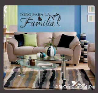 W805 TODO PARA LA Familia Wandtattoo Wandaufkleber Bad