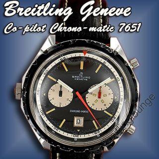 BREITLING Uhr Co pilot Chrono matic 7651   Rarität 1968