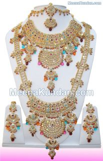 Jodha Akbar Indian Wedding Jewelry 811 in Multi