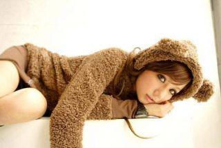New Punk Emo Cosplay Japanese Teddy Panda Bear Hoodie Shirt Top Jacket