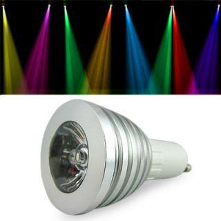LED SPOT LEUCHTMITTEL 16 LEUCHTFARBEN 4 MODI FLASH EFFEKT 240V GU10