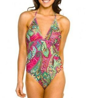 Tan Through Kiniki Shaped Top Swimsuit   St Barts Pattern   Size 8