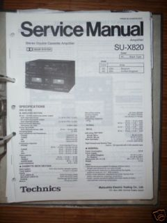 Service Manual Technics SU X820 Amplifier,ORIGINAL