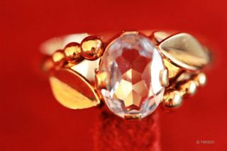 Unikat Vintage Hochwertige Aquamarine 585 Gold Ring 14 Karat Edelstein