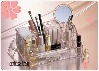 transparent glashell Make up Schminke Kosmetik Organizer st 823