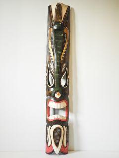 Hawaii Maske Masken Südsee Wandbret Bild Holz 100cm 05