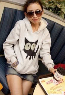 New Ladies Japanese Korean Kitty Kitten Cat Girl Sweater Jumper Hoodie