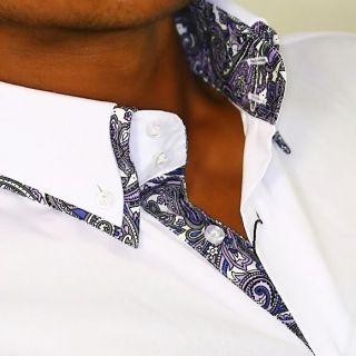 Hemd Shirt Kontrast Karo Polo Camicie Doppelkragen 817 neu