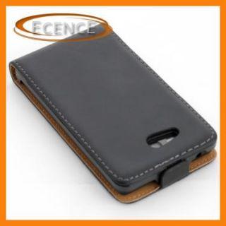 Nokia Lumia 820 Leder tasche Schutz hülle schwarz Case Lederhülle