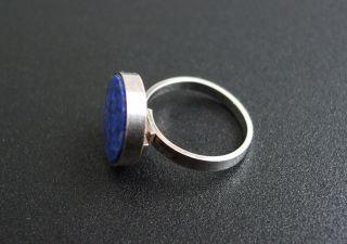 Schöner alter 835 Silber Ring mit Lapislazuli Design Silberring