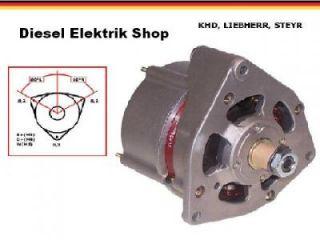Lichtmaschine 28V 27A ABG Atlas Liebherr O & K KHD