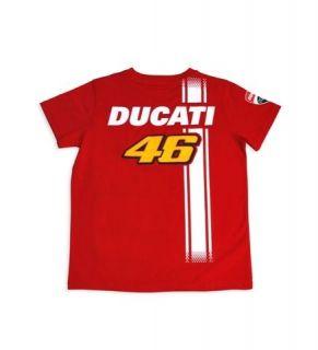 DUCATI Corse Kinder T Shirt VALENTINO ROSSI D46 FAN KIDS Moto GP NEU