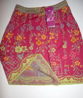 Ivko Strick Rock Gr L/40 neu floral pattern skirt 100% Baumwolle