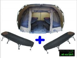 Carp Madness Attila´s Super 2,5 Dome + 2 Liegen Zelt Karpfenzelt