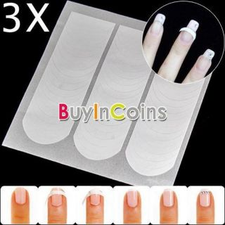 Pack Nail Art French Tips Forms Guides Sticker Fringe