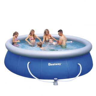Bestway hoher Fast Set Pool 366x91cm mit Pumpe Swimmingpool Quick up