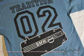 BMW 2002 1600 T shirt Tee Mobile Tradition M10 New