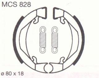 BREMSBELÄGE LUCAS MCS828 Kreidler Flory Honda Camino
