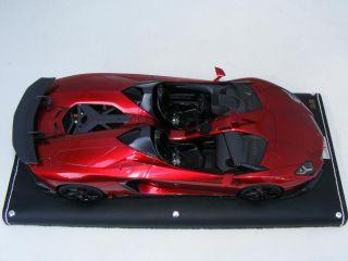 18 MR Lamborghini Aventador J in Metallic red Geneva AutoShow