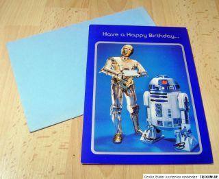 Original Star Wars Geburtstagskarte 1977 unbenutzt USA