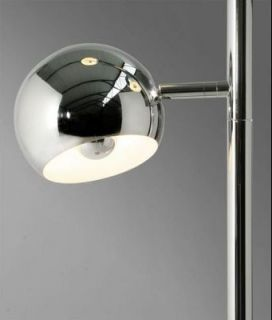 Stehlampe Stehleuchte BALL chrom Kugeldesign Retro Style Design Lampe