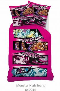 Bettwäsche Kinderbettwäsche Monster High Teens Motiv 135/200 Linon