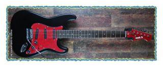 music is ST E Gitarre schwarz matt, Glitzer Pink Teile, handgefertigt