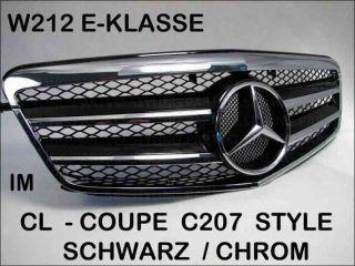 MERCEDES W212 E KLASSE LIMO & KOMBI KÜHLERGRILL CHROM SCHWARZ GRILL