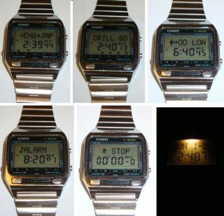 VINTAGE CASIO Digital T 1500 English Japanese dictionary WATCH RARE