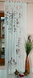 Schlaufenschal Henna mit Ausbrenner Motiv, Vorhang, Schlaufenvorhang