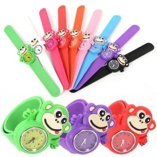 Armbanduhr Cartoon Cutie Monkey Wrist WATCH Rubber Bracelet Girl Kids
