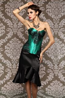 Sexy AB868 Lace up boned Corset Bustier Corsage Korsett Top