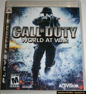 PS3 Playstation 3 Spiel CALL OF DUTY WORLD AT WAR FSK 18 TOP
