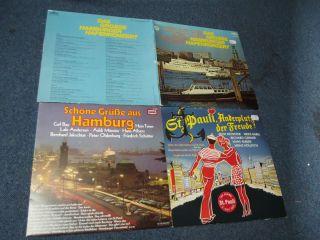 SHANTIES + SEEMANNSLIEDER   HAMBURGER HAFENKONZERT   ST. PAULI   4 LPs