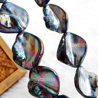 15 25mm Perlmutt Muscheln Perlen Bead Strang Basteln CHARMS