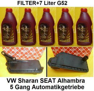Ölwechselkit Automatikgetriebe SEAT Alhambra VW Sharan 5Gang 7L G52