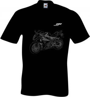 Shirt mit Motorradgrafik Typ S1000RR fuer den BMW S 1000 RR Motorrad