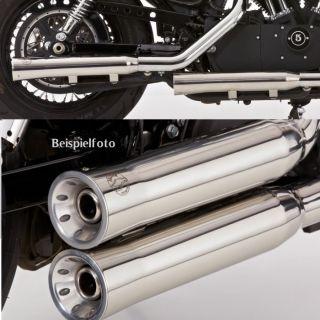 Groove Auspuff Harley Davidson Sportster XL 883 06  edelstahl