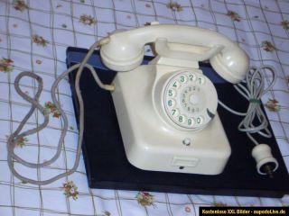 Altes Bakelit Post Telefon W 49 mit Wählscheibe und Erdtaste. HAGENUK