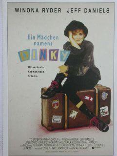 Kino 892= Filmkarte, Ein Mädchen namens Dinky mit Winona Ryder + Jeff